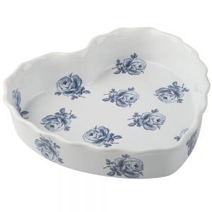 Vintage Indigo Heart Dish-0