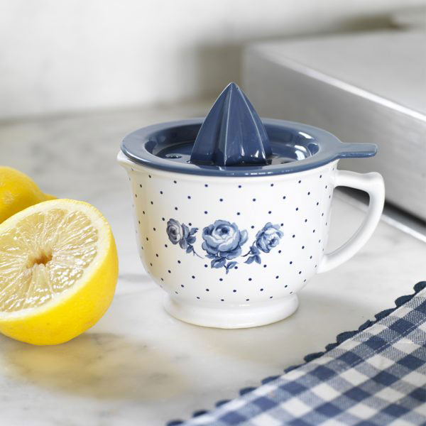 Vintage Indigo Lemon Juicer-1352