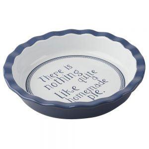 Vintage Indigo Round Pie Dish-0