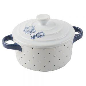 Vintage Indigo Mini Round Casserole Dish-0
