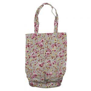 Ditsy Floral Foldaway Bag Grey-0
