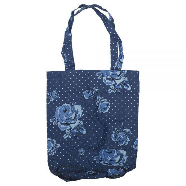 Vintage Indigo Foldaway Bag-0
