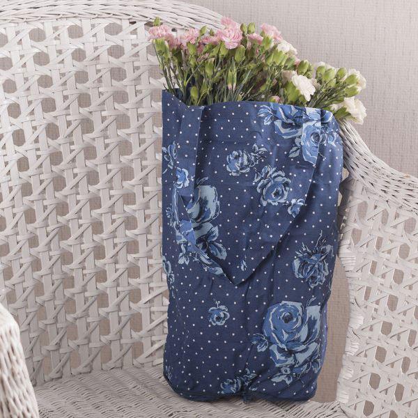 Vintage Indigo Foldaway Bag-1489