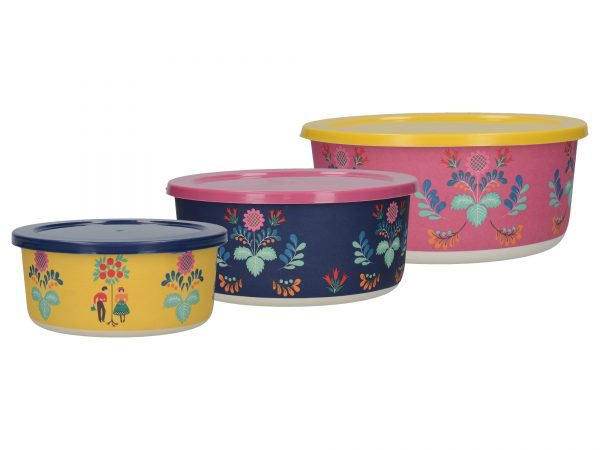 Festival Folk Set of 3 Nesting Containers-1643