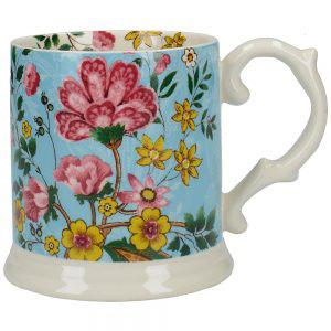 Eastern Flora Tankard Mug In Turquoise-0