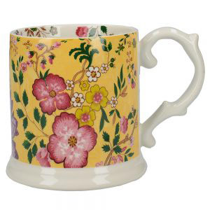Eastern Flora Tankard Mug In Yellow-0