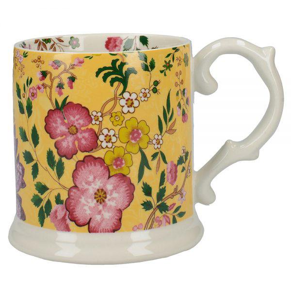 Eastern Flora Tankard Mug In Yellow-0