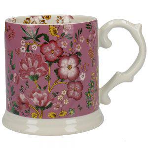 Eastern Flora Tankard Mug In Pink-0