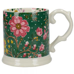 Eastern Flora Tankard Mug In Green-0