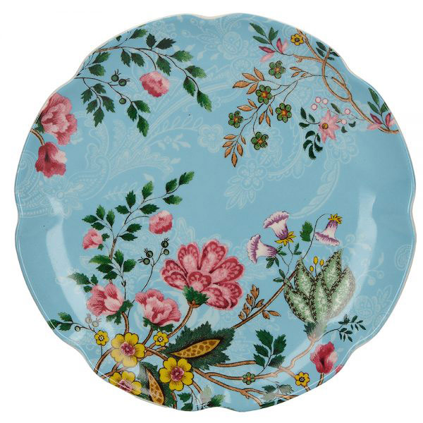 Eastern Flora Mini Plate In Turquoise-0