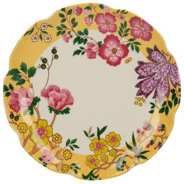 Eastern Flora Mini Plate In Yellow-0