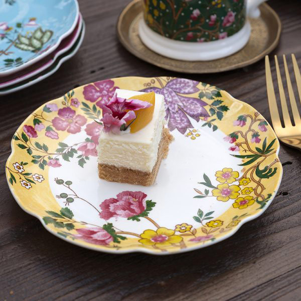 Eastern Flora Mini Plate In Yellow-1623