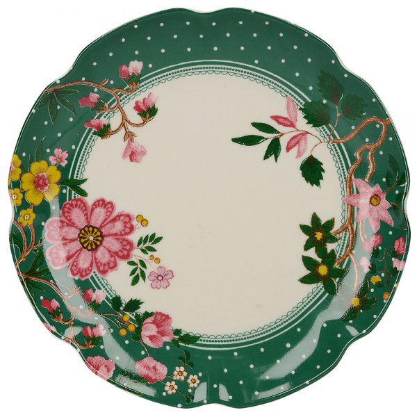 Eastern Flora Mini Plate In Green-0