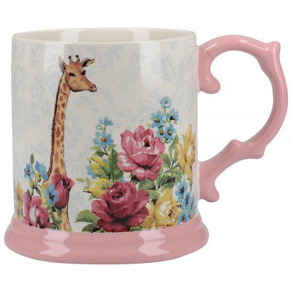 Blooming Fancy Giraffe Tankard Mug-0