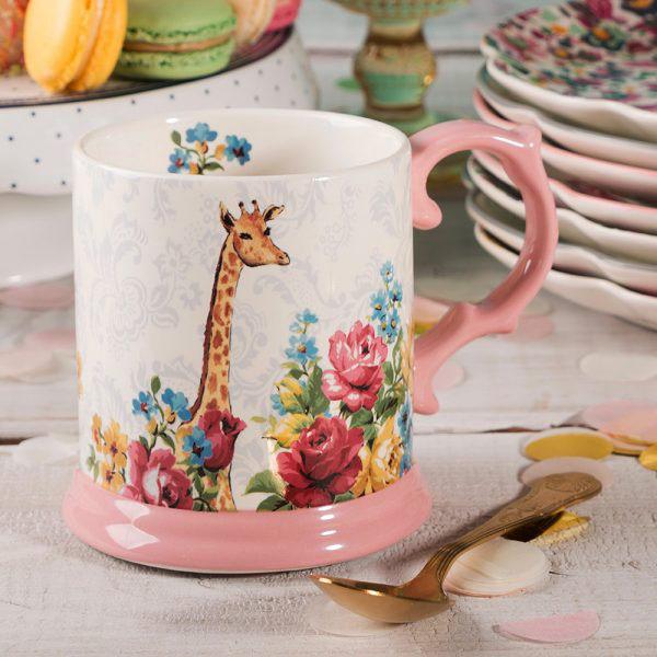 Blooming Fancy Giraffe Tankard Mug-1589