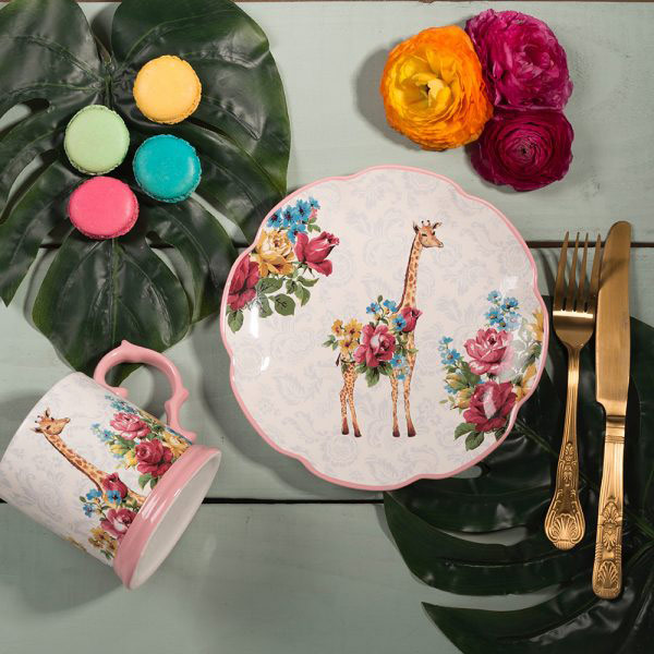 Blooming Fancy Giraffe Side Plate-1610