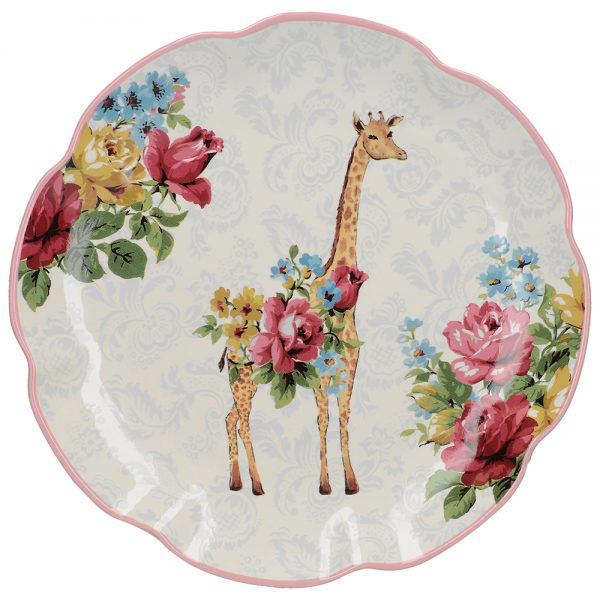 Blooming Fancy Giraffe Side Plate-0