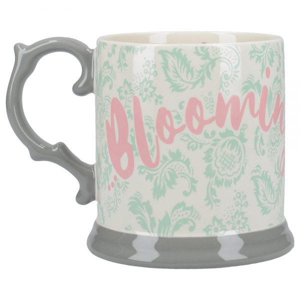 Blooming Fancy Slogan Tankard Mug-0