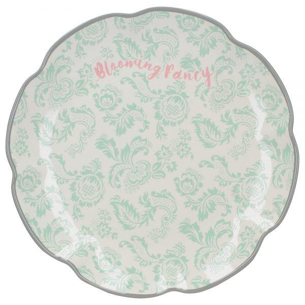 Blooming Fancy Slogan Side Plate-0