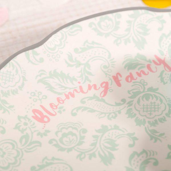 Blooming Fancy Slogan Side Plate-1603