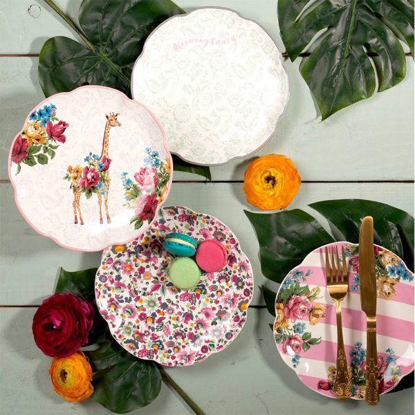 Blooming Fancy Slogan Side Plate-1607