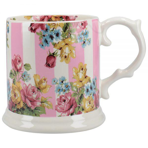 Blooming Fancy Stripe Tankard Mug-0