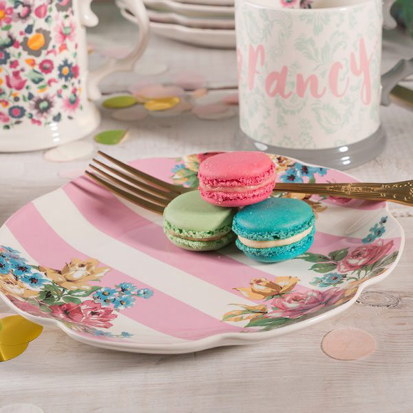 Blooming Fancy Stripe Side Plate-1600