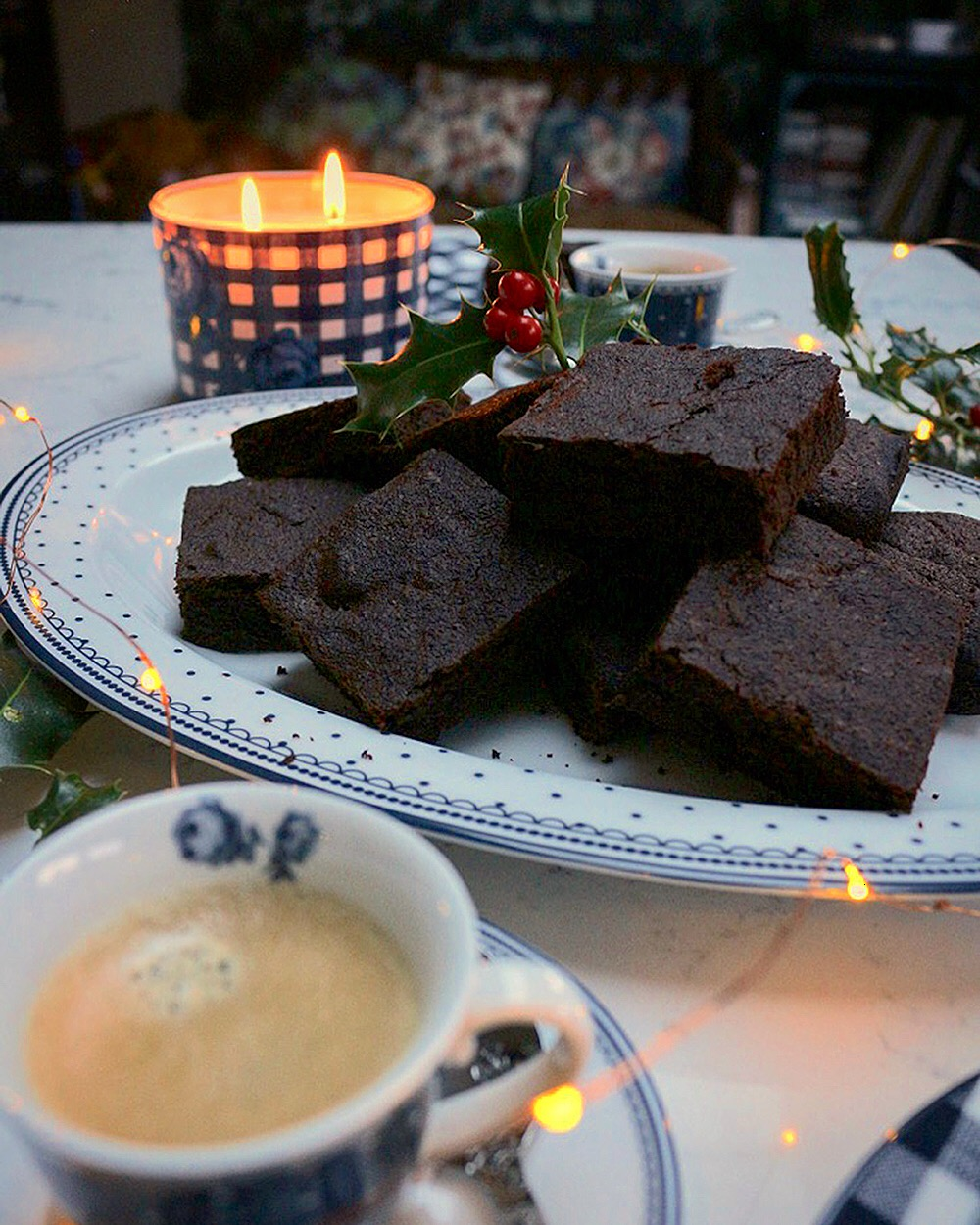 Chocolate Gingerbread Brownies with Amaretto