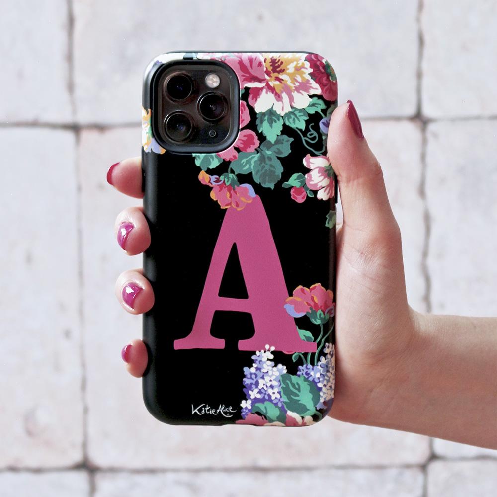 Bloom Hard Monogram Phone Case - Black
