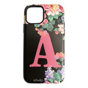 Katie Alice Bloom Hard Monogram Phone Case - Black