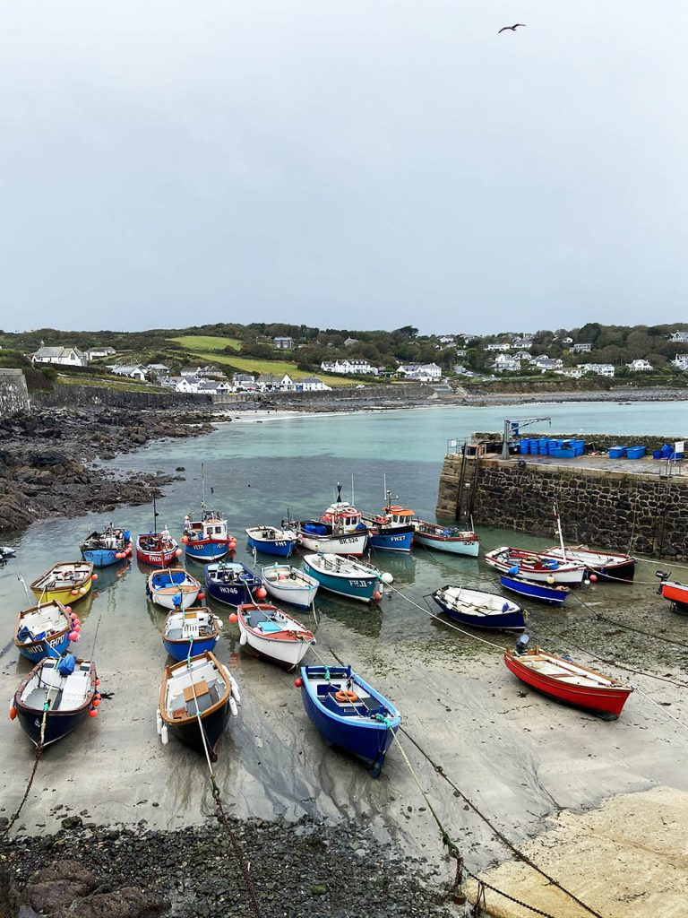 Coverack Harbour at low tide