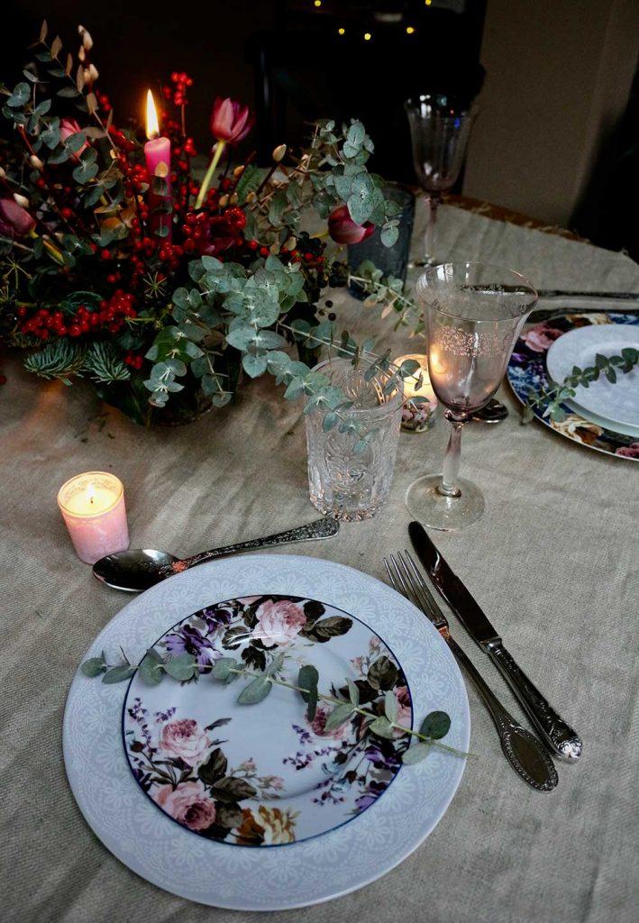 Setting the Christmas table