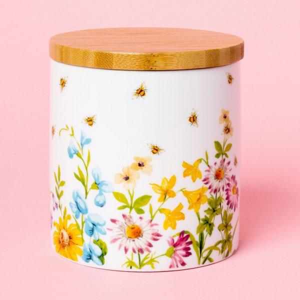English Garden Bee Storage Jar