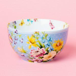 English Garden Blue Cereal Bowl