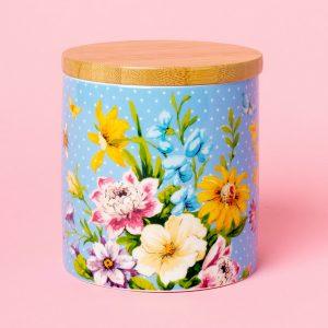 English Garden Blue Storage Jar
