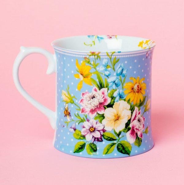 English Garden Blue Tankard Mug