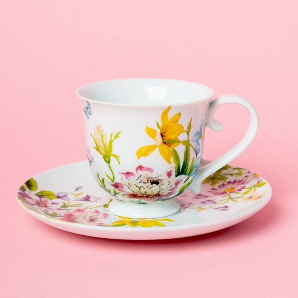 English Garden Tea Cup And Saucer
