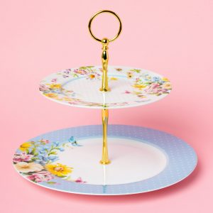 English Garden Two Tier Cake Stand