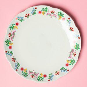 Festival Folk Dinner Plate