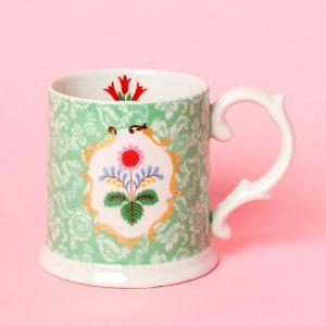 Festival Folk Green Tankard Mug