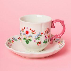 Festival Folk Tea Cup And Saucer