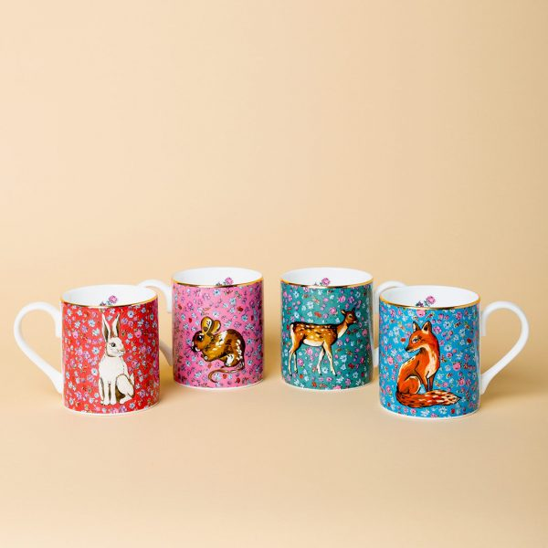 Forest Fling Set Of 4 Mugs