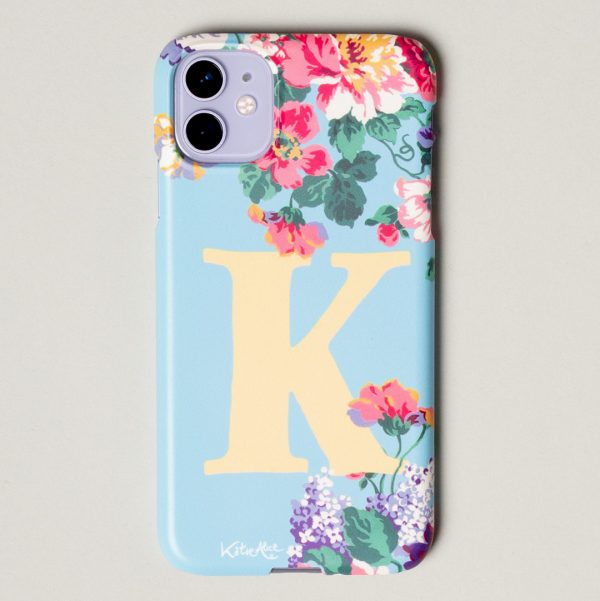 Bloom Hard Monogram Phone Case - Blue