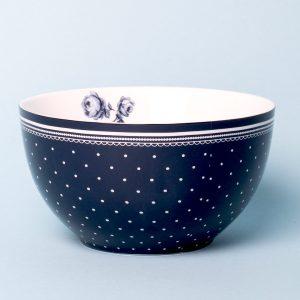 Vintage Indigo Blue Spot Cereal Bowl