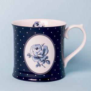 Vintage Indigo Blue Spot Tankard Mug