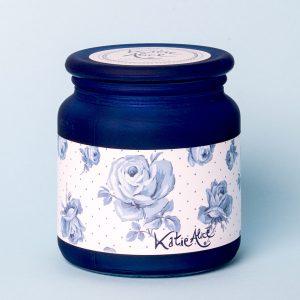 Vintage Indigo Frosted Jar Candle