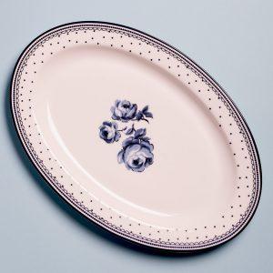 Vintage Indigo Serve Platter