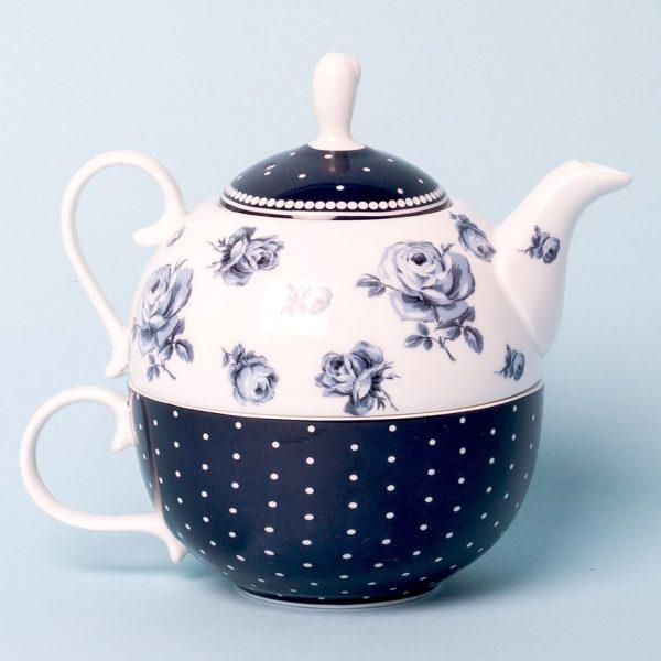 Vintage Indigo Tea For One