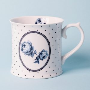 Vintage Indigo White Spot Tankard Mug