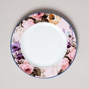 Wild Apricity Floral Border Side Plate
